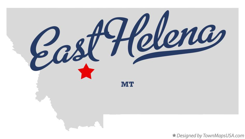 Map of East Helena Montana MT
