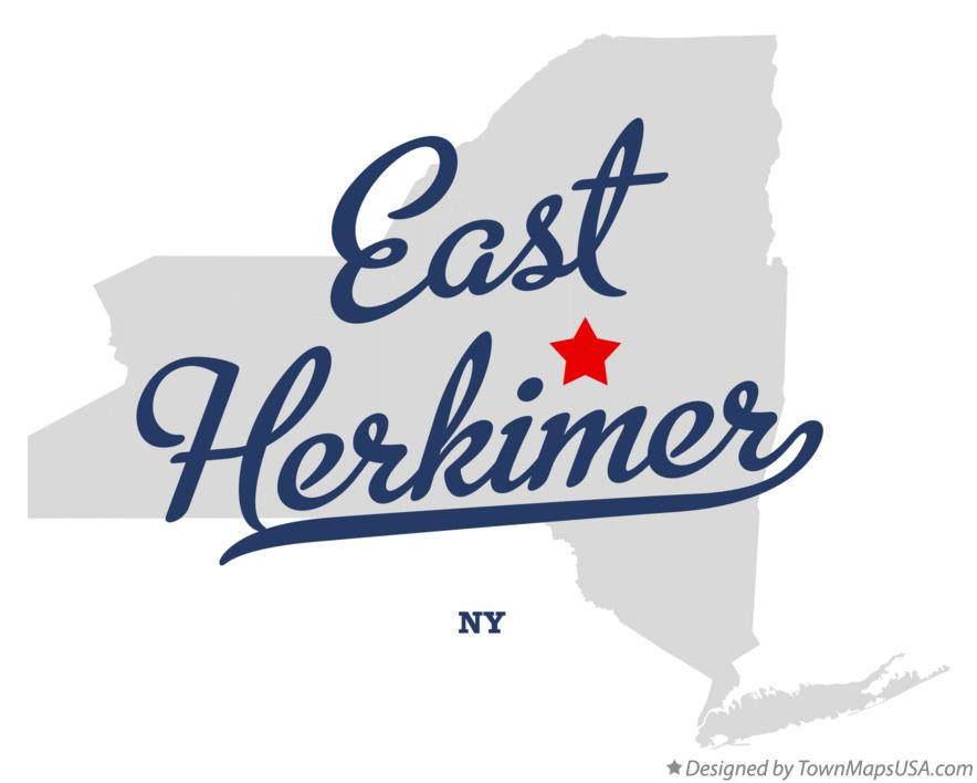 Map of East Herkimer New York NY