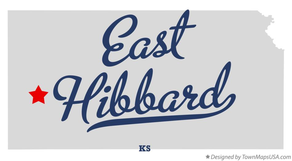 Map of East Hibbard Kansas KS