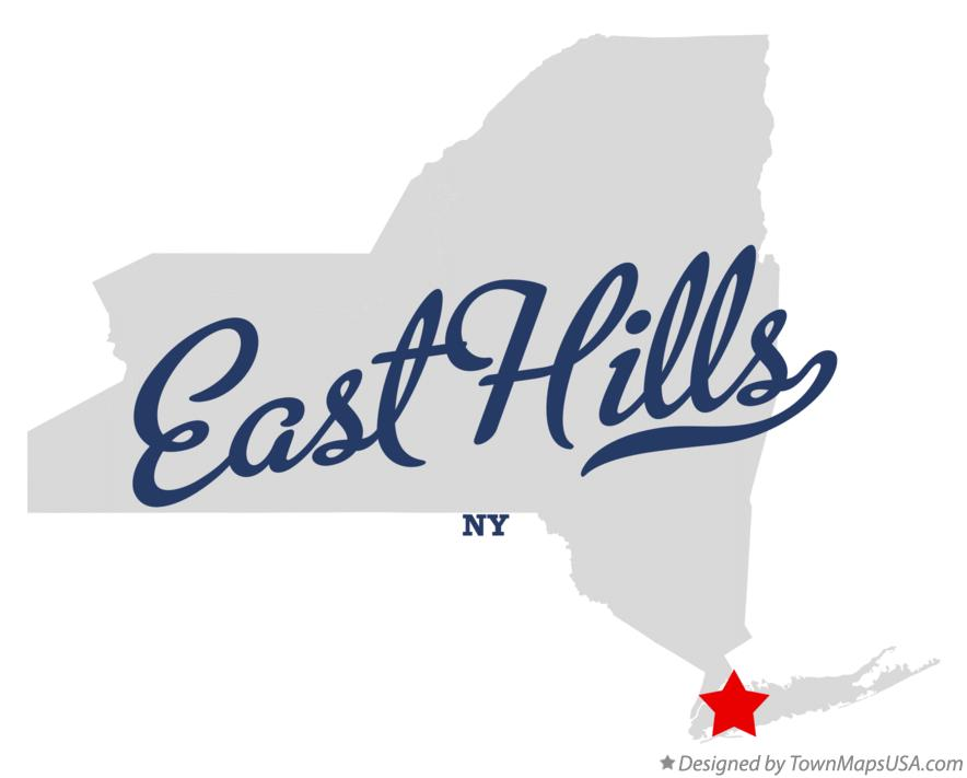 Map of East Hills New York NY