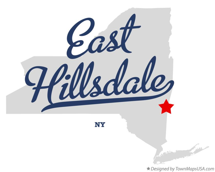 Map of East Hillsdale New York NY