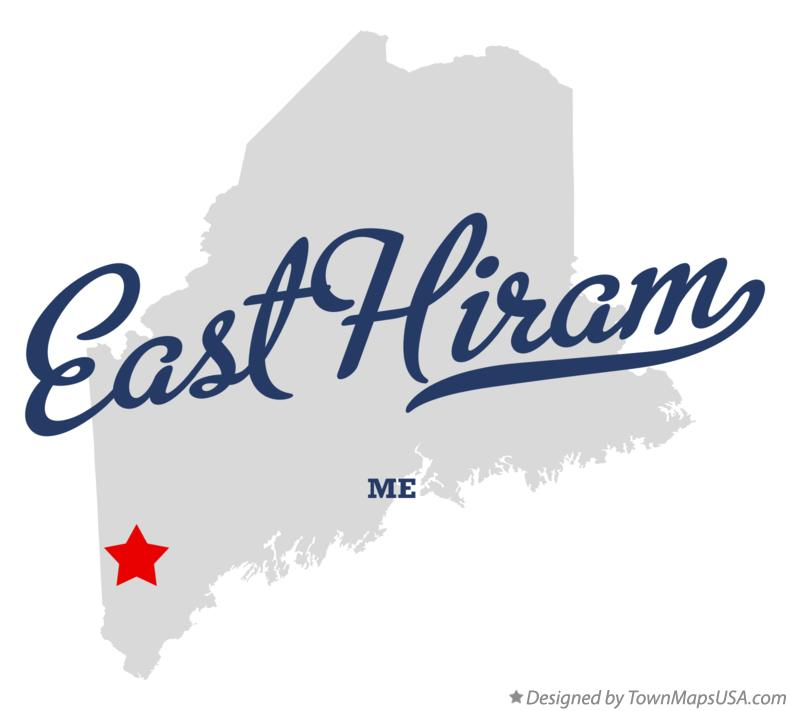 Map of East Hiram Maine ME