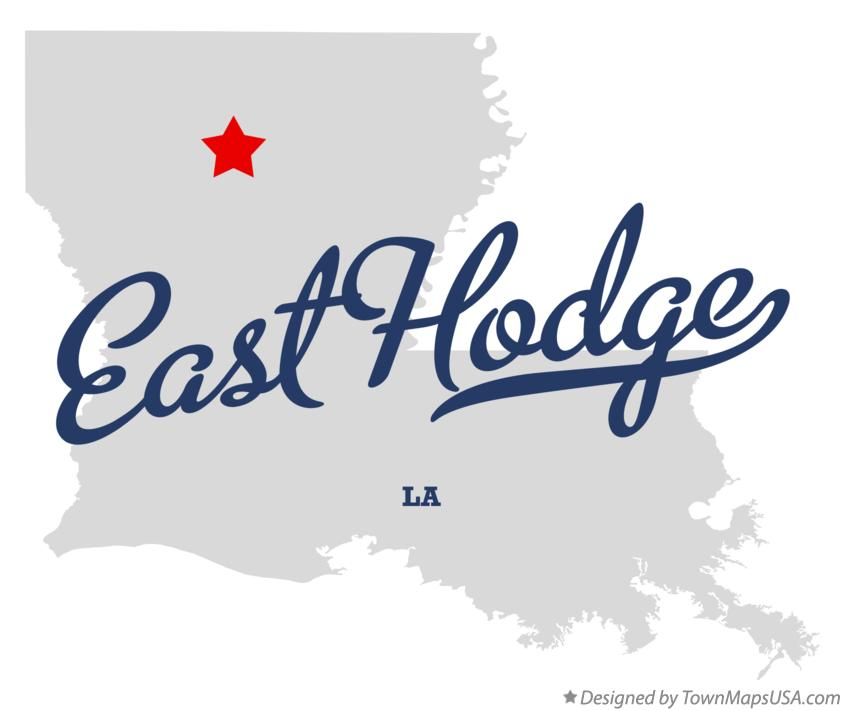 Map of East Hodge Louisiana LA