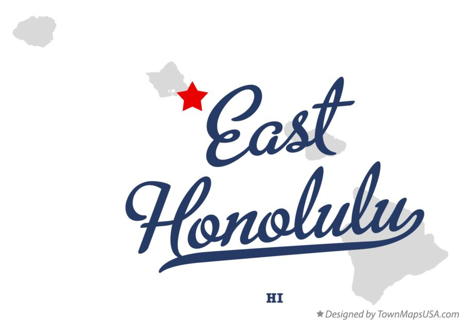 Map of East Honolulu Hawaii HI