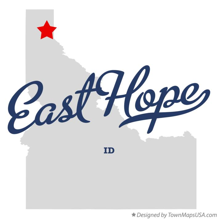 Map Of East Hope Id Idaho