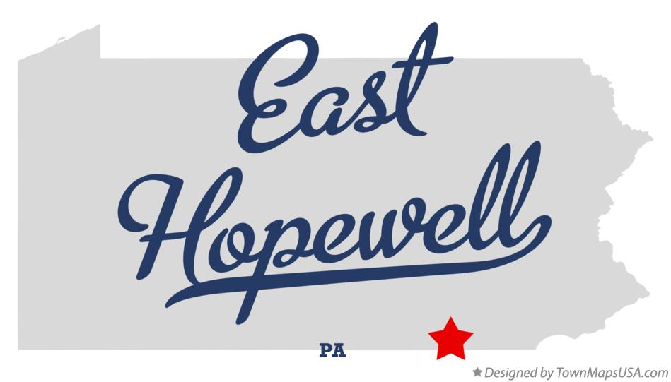 Map of East Hopewell Pennsylvania PA