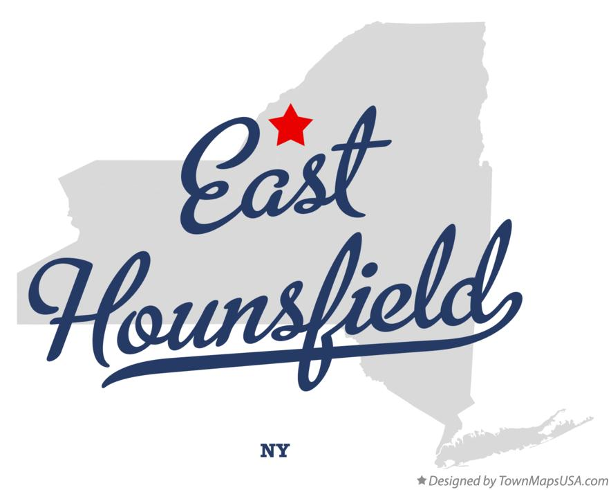 Map of East Hounsfield New York NY