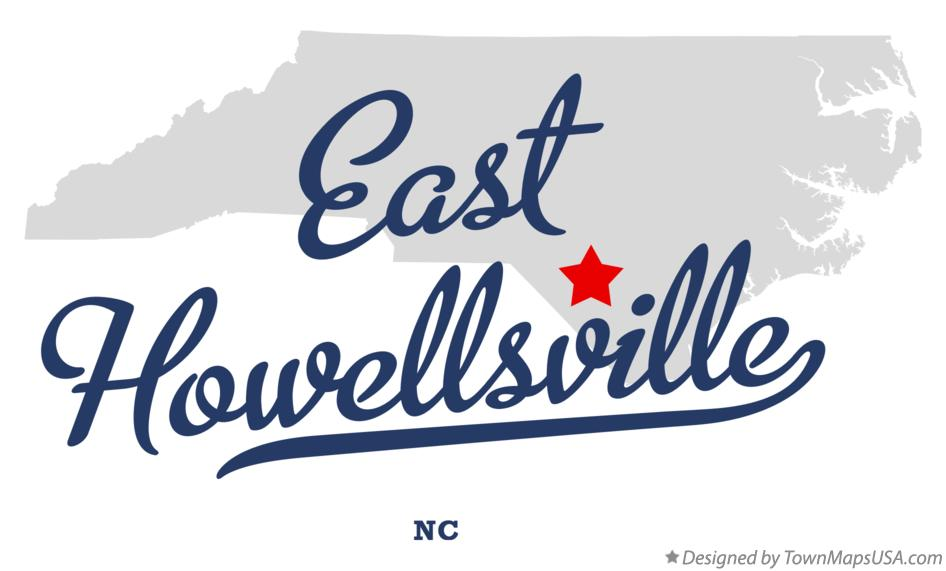 Map of East Howellsville North Carolina NC