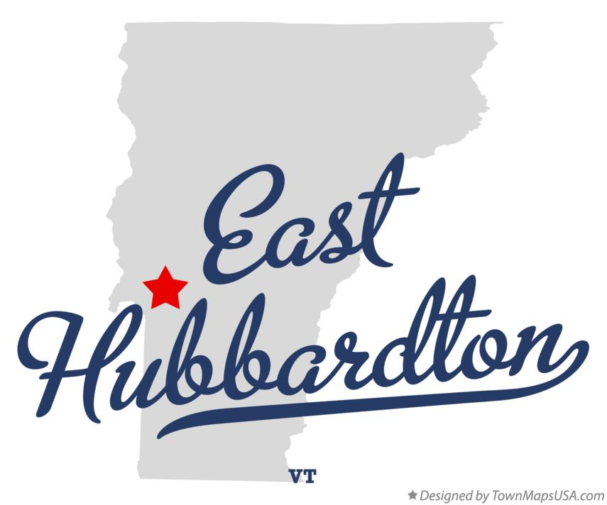 Map of East Hubbardton Vermont VT