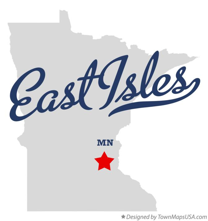 Map of East Isles Minnesota MN