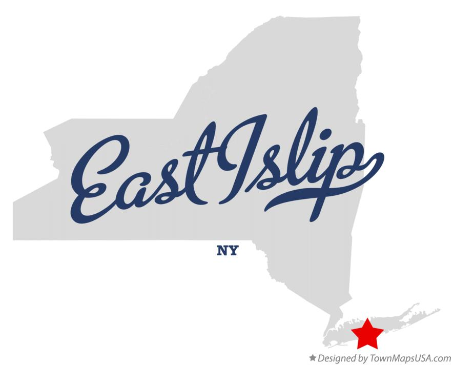 Map of East Islip New York NY