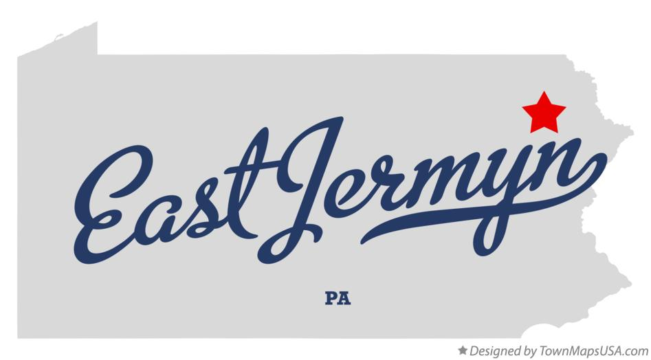 Map of East Jermyn Pennsylvania PA