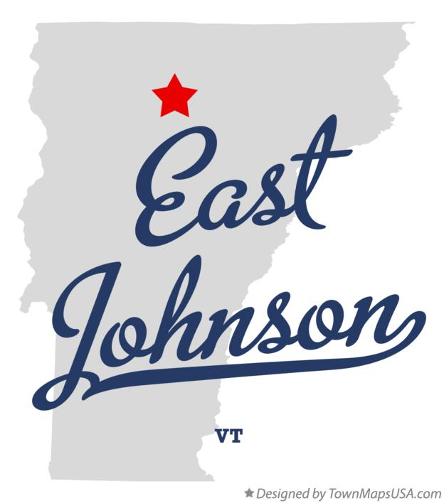 Map of East Johnson Vermont VT