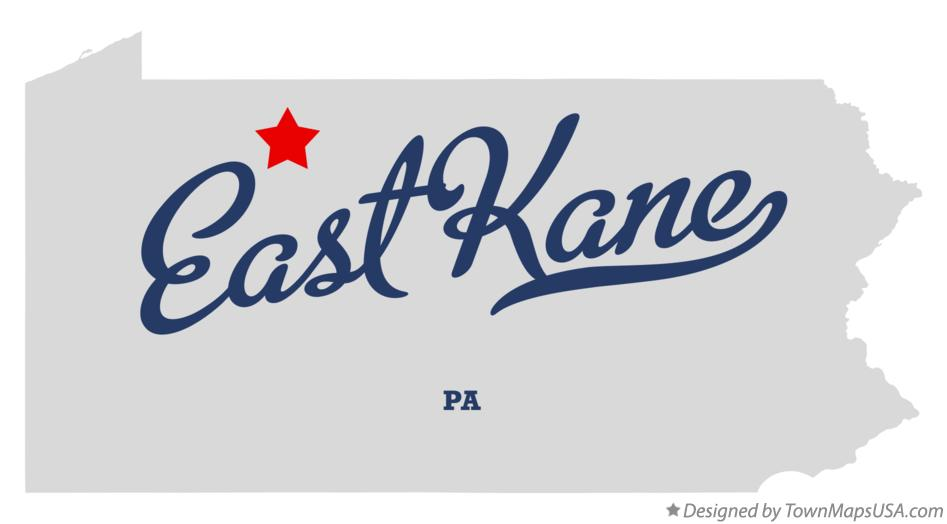 Map of East Kane Pennsylvania PA