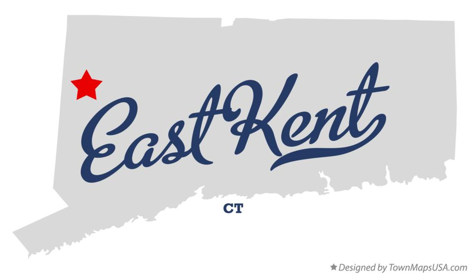 Map of East Kent Connecticut CT