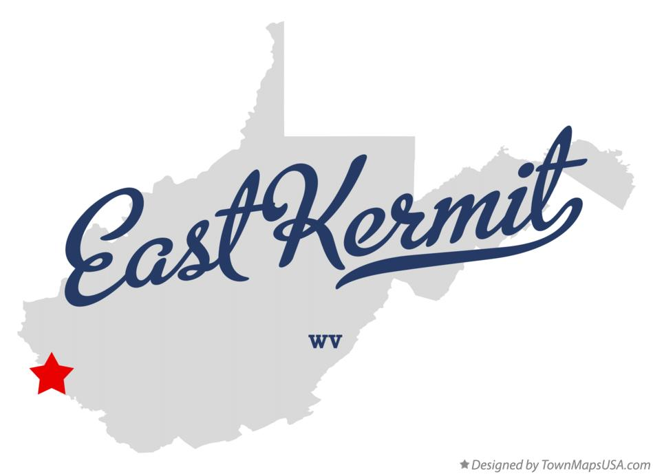 Map of East Kermit West Virginia WV