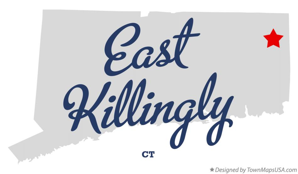 Map of East Killingly Connecticut CT