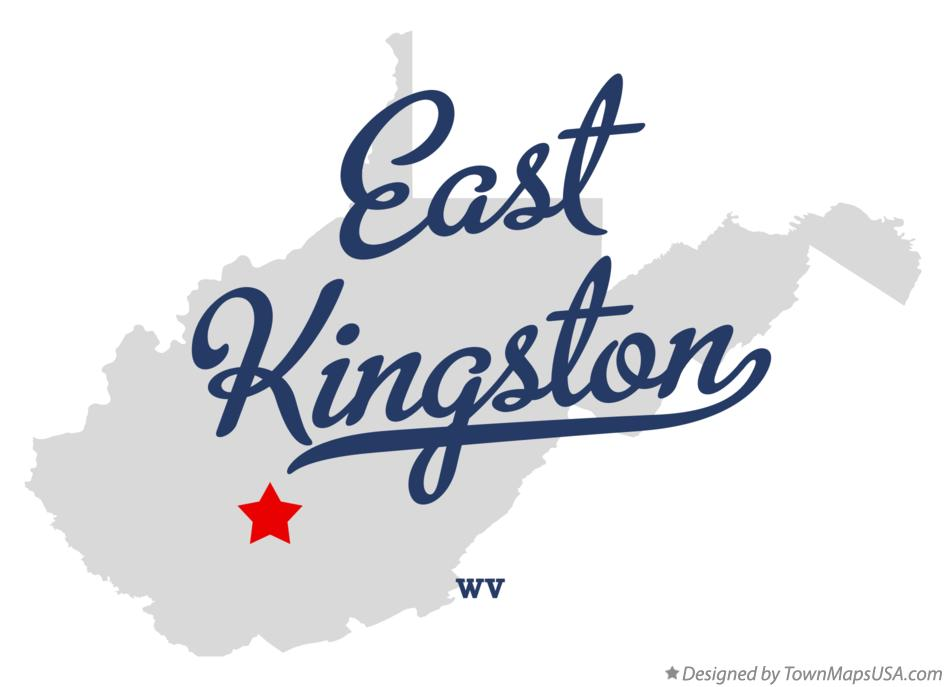 Map of East Kingston West Virginia WV