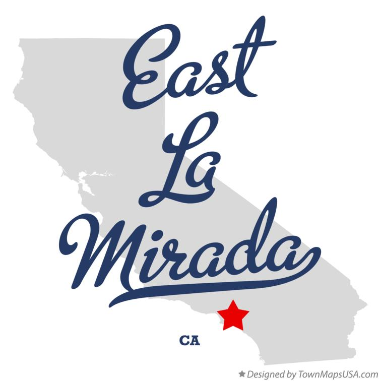 Map of East La Mirada CA California