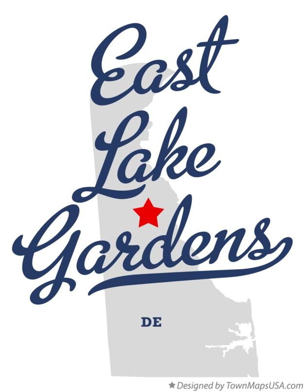 Map of East Lake Gardens Delaware DE
