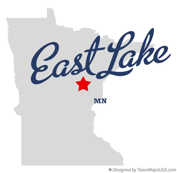 Map of East Lake Minnesota MN