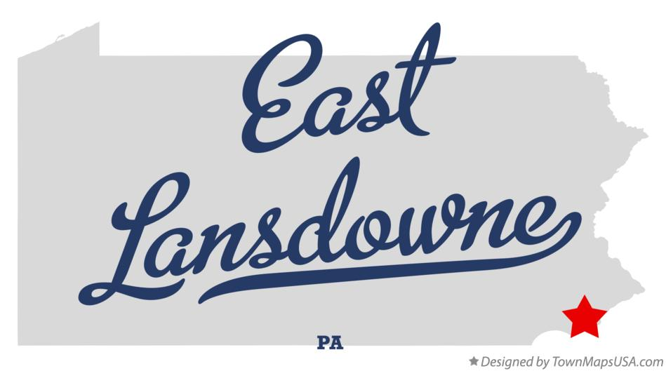 Map of East Lansdowne Pennsylvania PA