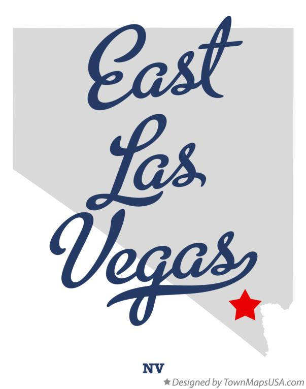 Map of East Las Vegas Nevada NV