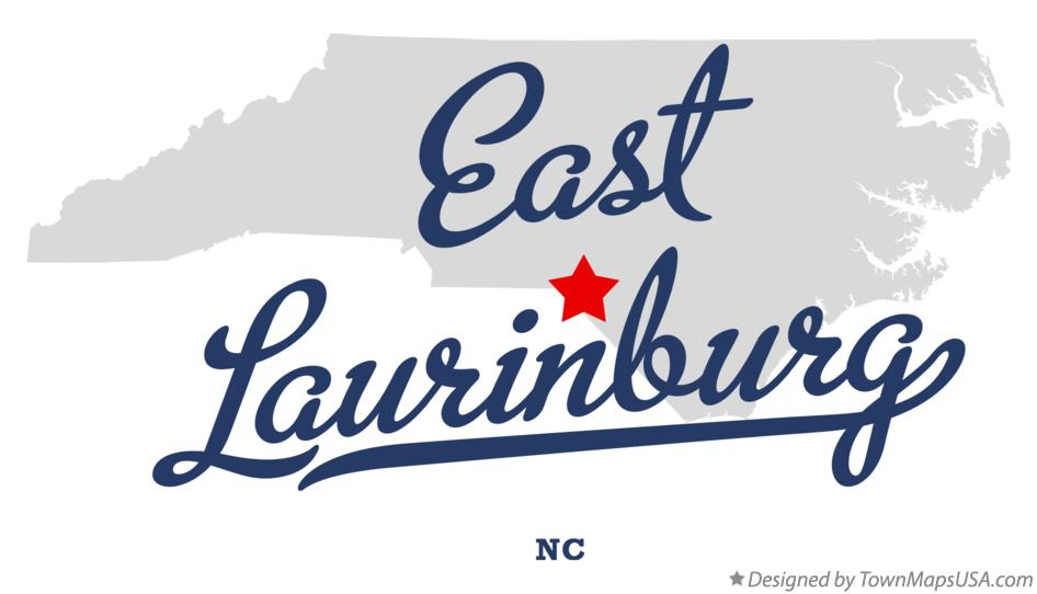Map of East Laurinburg North Carolina NC