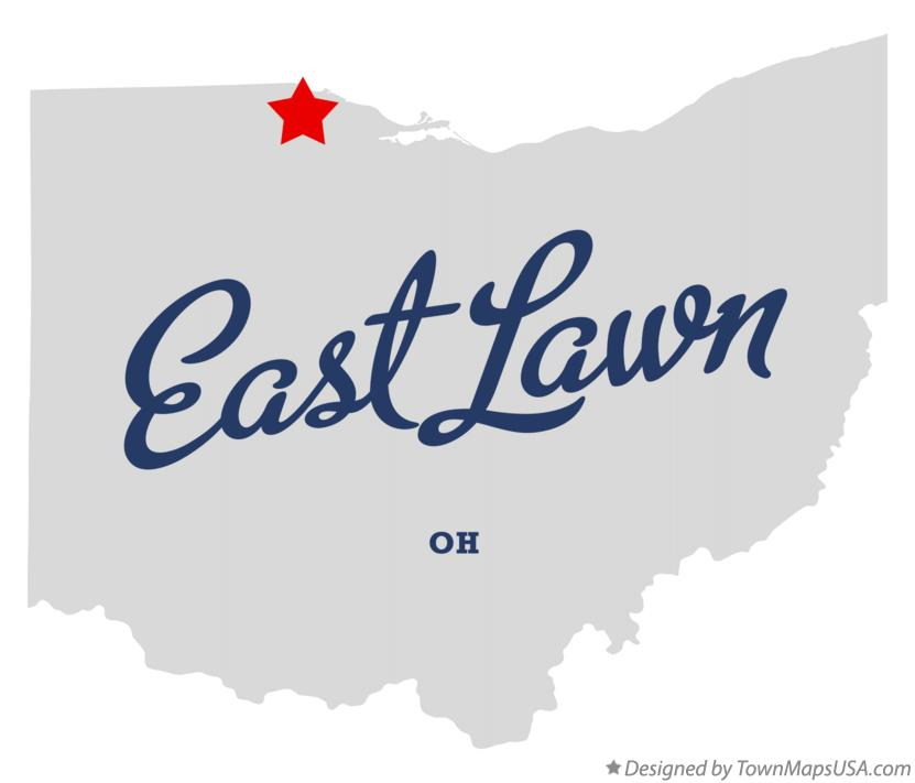 Map of East Lawn Ohio OH