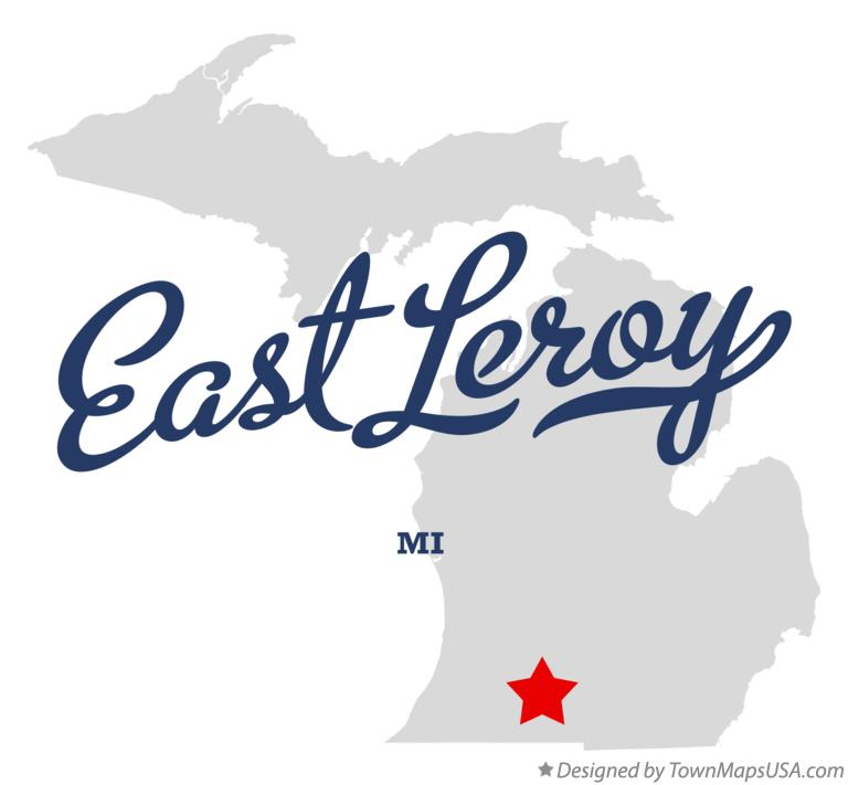Map of East Leroy Michigan MI