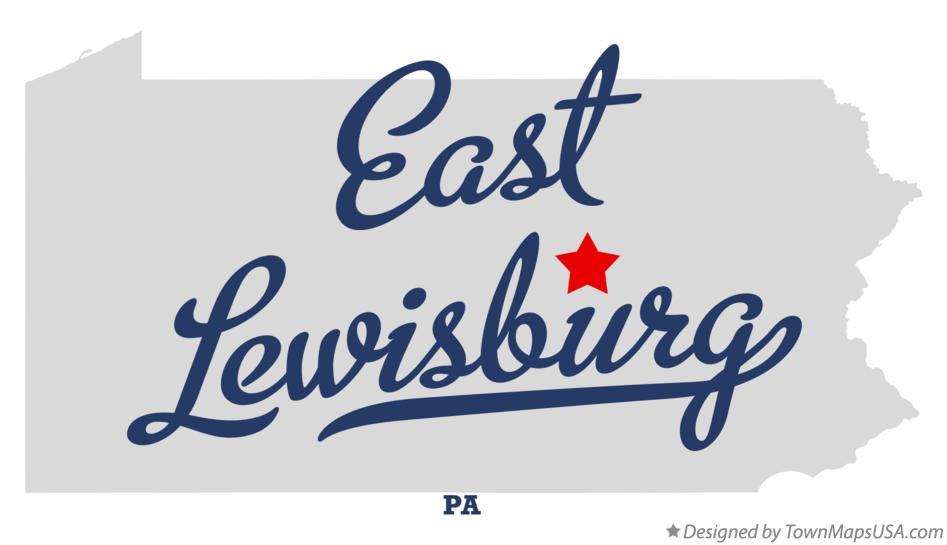 Map of East Lewisburg Pennsylvania PA