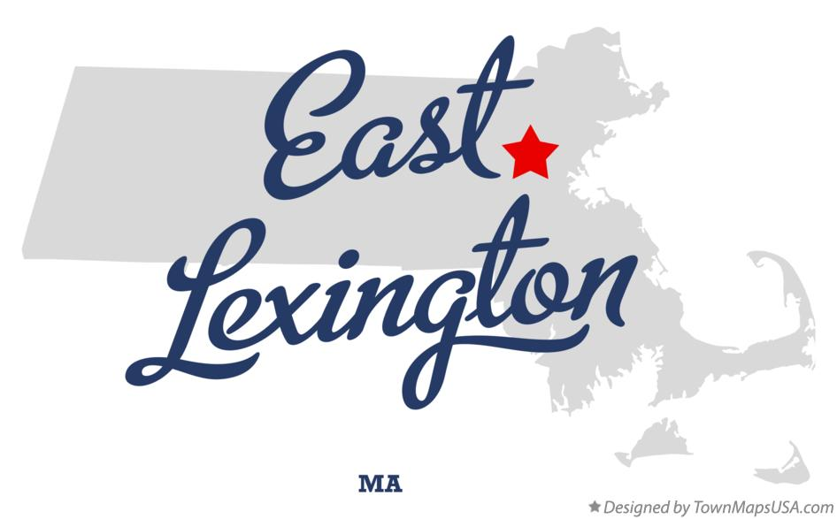 Map of East Lexington Massachusetts MA