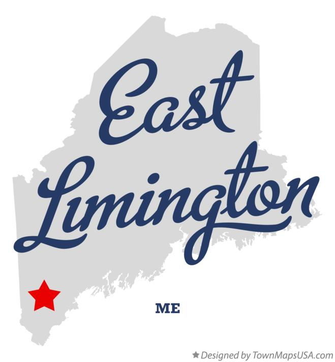 Map of East Limington Maine ME