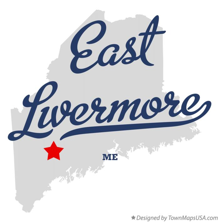 Map of East Livermore Maine ME