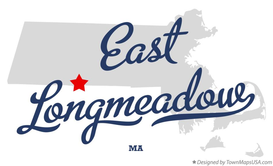 Map of East Longmeadow Massachusetts MA