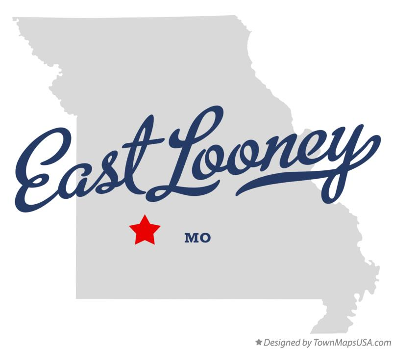 Map of East Looney Missouri MO