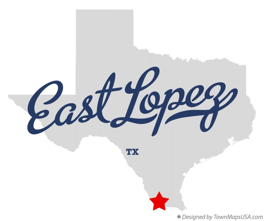 Map of East Lopez Texas TX