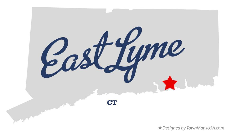 Map of East Lyme Connecticut CT