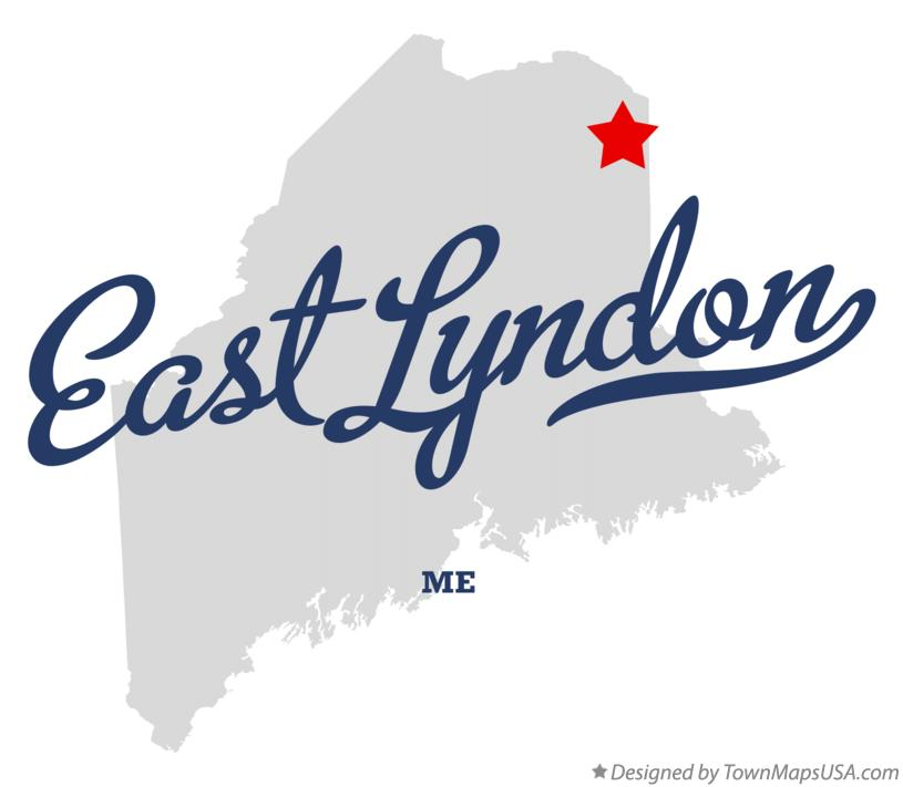Map of East Lyndon Maine ME