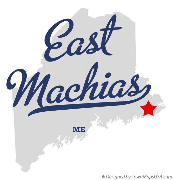 Map of East Machias Maine ME