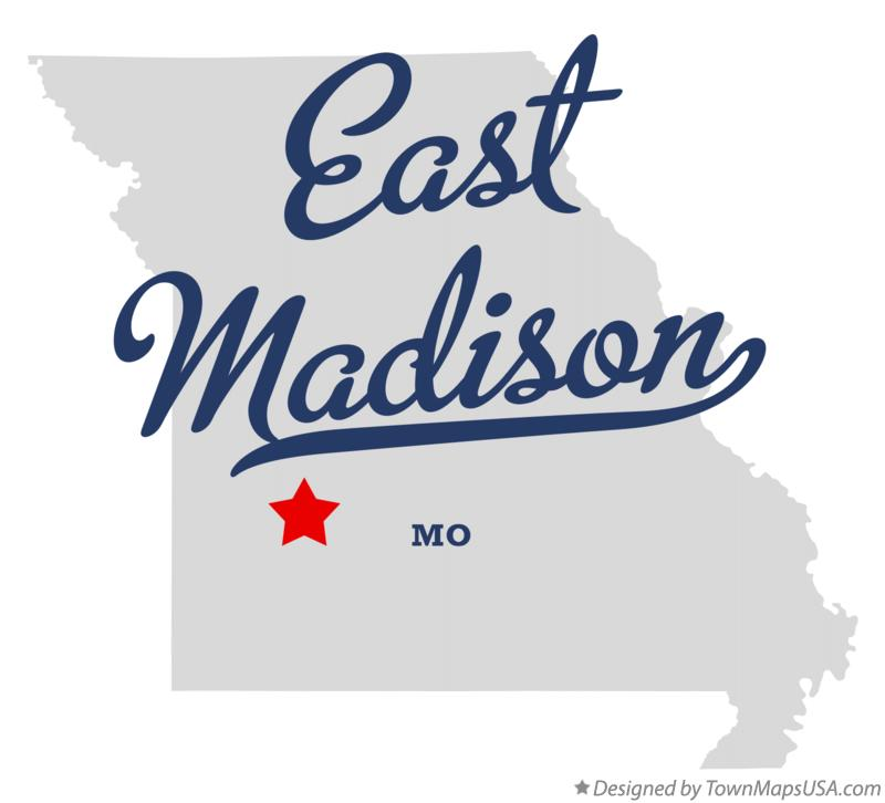 Map of East Madison Missouri MO