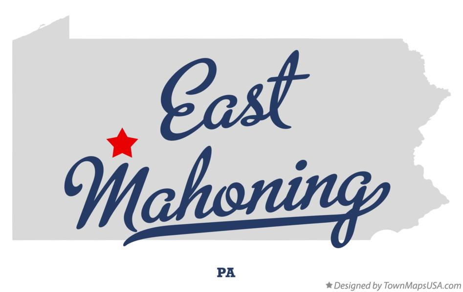 Map of East Mahoning Pennsylvania PA