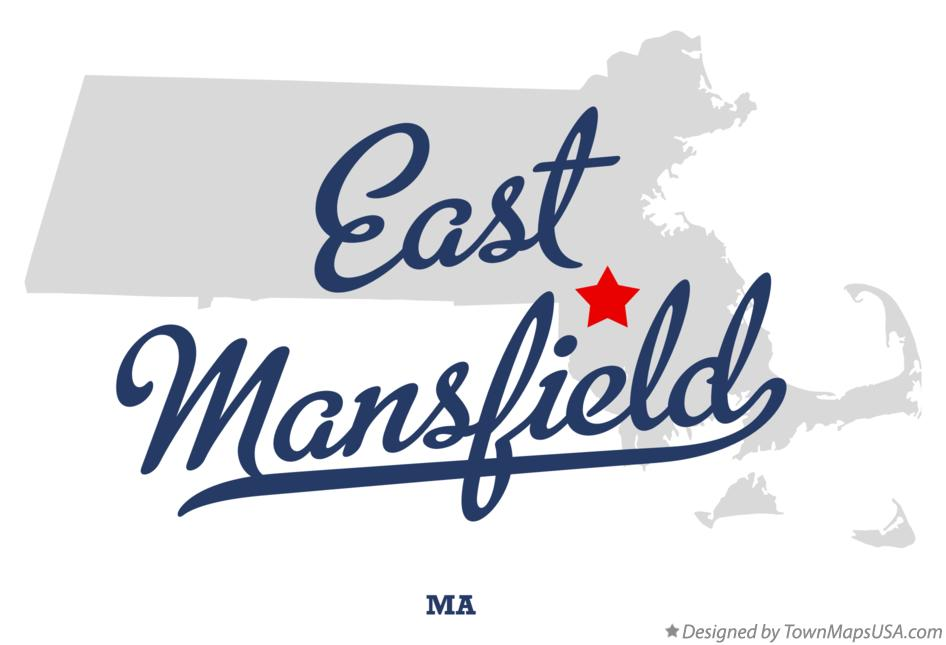 Map of East Mansfield Massachusetts MA