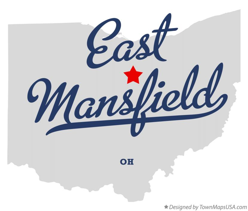 Map of East Mansfield Ohio OH