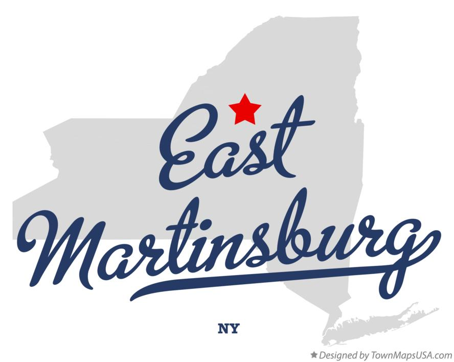 Map of East Martinsburg New York NY