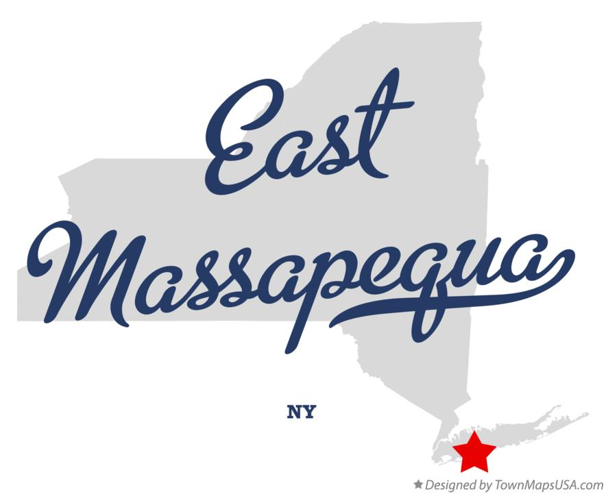 Map of East Massapequa New York NY