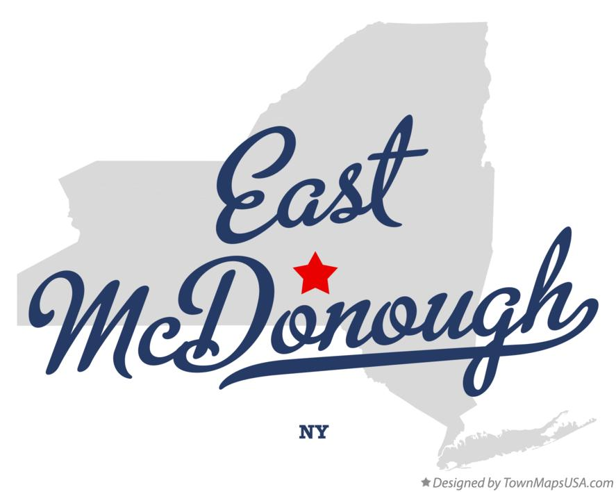 Map of East McDonough New York NY