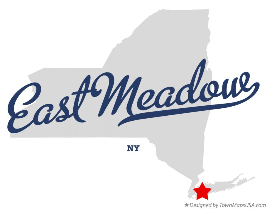Map of East Meadow New York NY