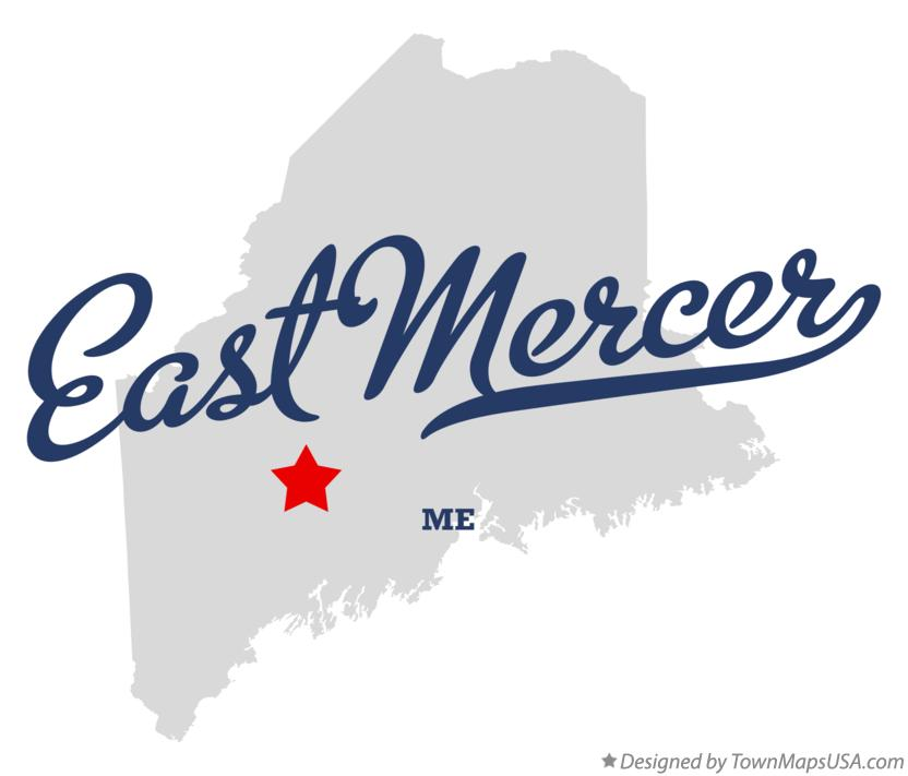 Map of East Mercer Maine ME