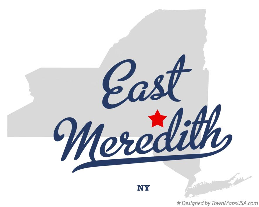 Map of East Meredith New York NY